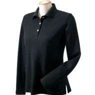 D110W-Devon-Jones-Ladies-Long-Sleeve-Pima-Pique-Polo-black