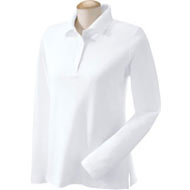 D110W-Devon-Jones-Ladies-Long-Sleeve-Pima-Pique-Polo-white