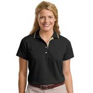 L456-Port-Authority-Signature-Ladies-Rapid-Dry-Sport-Shirt-black